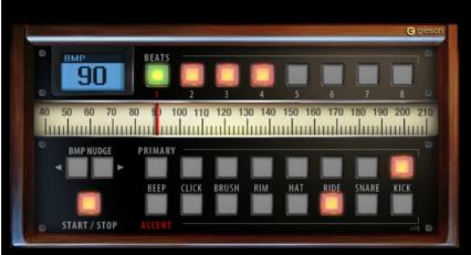 Online drum metronome